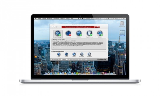 BitDefender on MBP Retina