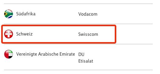 LTE iPhone 5 Switzerland