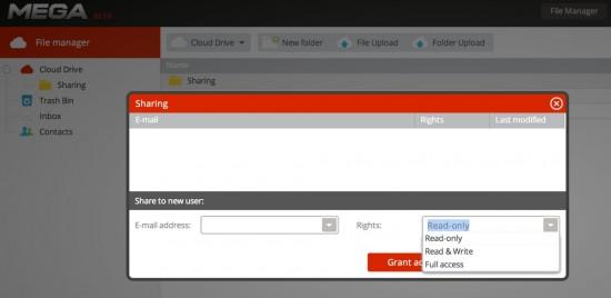 MEGA Sharing Folder