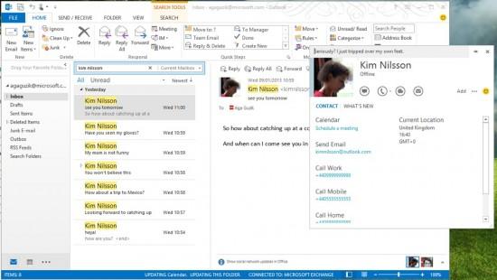 Skype in Outlook