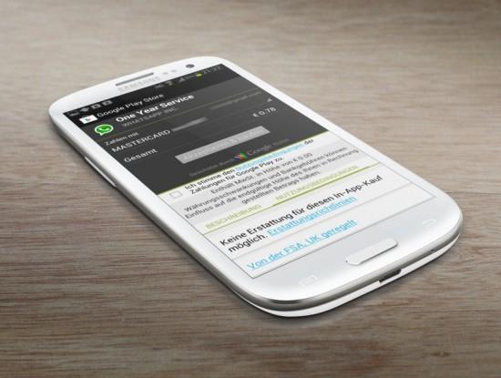 WhatsApp Google Wallet Renew