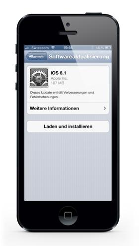 iOS 6.1 on iPhone 5