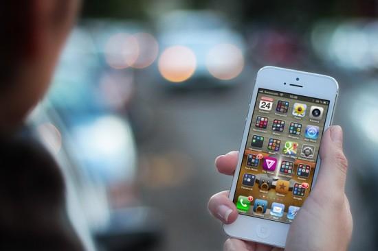 iPhone 5 White walking