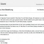 Apple aktualisiert Bestellungen der neuen MacBook Pro