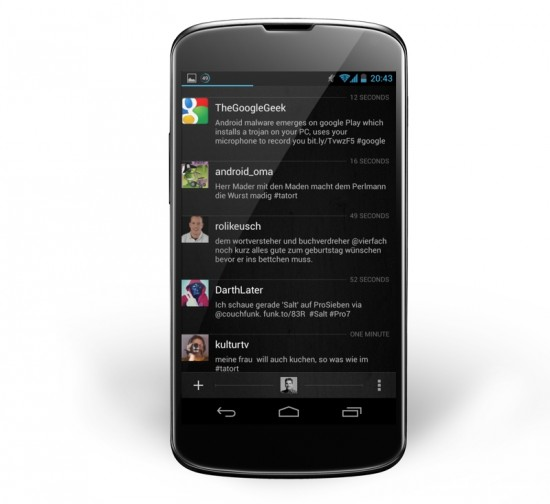 Carbon Twitter Client on Nexus 4