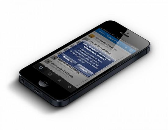 Dropbox Push on iPhone 5