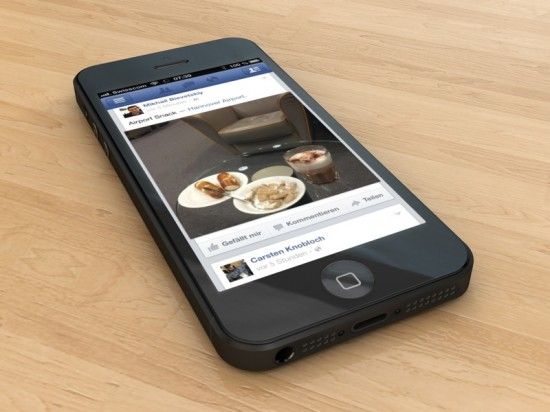 Facebook App on iPhone 5