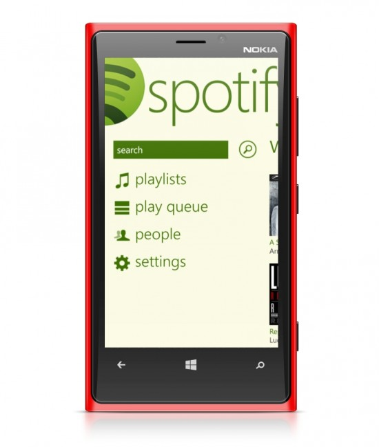 Spotify on Lumia 920