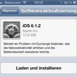 Apple veröffentlicht iOS 6.1.2 – Behebt Exchange Fehler