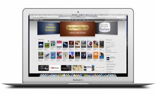 iTunes U on MacBook Air