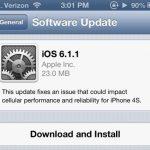 Apple veröffentlicht iOS 6.1.1 für iPhone 4S- Download Link