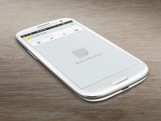 Google Keep on Galaxy S3