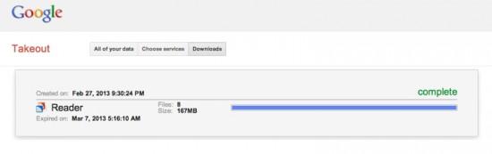 Google Reader Export