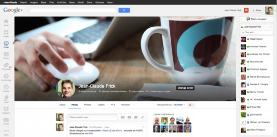 GooglePlus Header Info