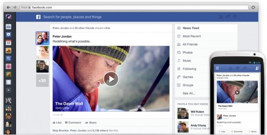 New Facebook Newsfeed