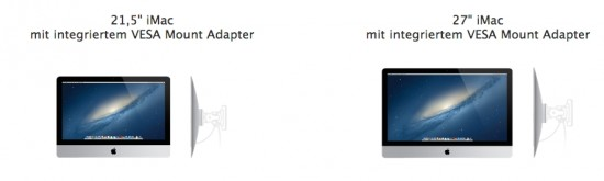 iMac with Vesa Mount Kit