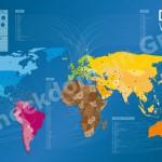 Kostenlose Domain-Weltkarte für Blogger