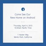 Facebook Android Event am 4.4. als Livestream