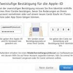 Apple führt Zwei-Faktor-Authentifizierung auch bei uns ein