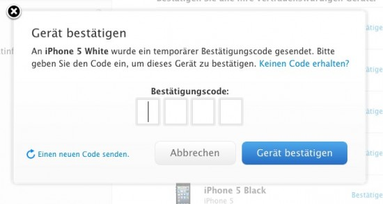 Apple Zwei-Faktor-Login-iPhone-Code