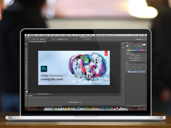 Photoshop Creative Cloud on MBA Retina