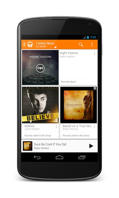 Play Music - Listen Now - Nexus 4