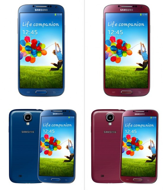 Samsung Galaxy S4 Colors