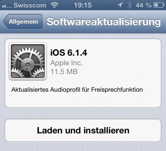 iOS 6.1.4 Update