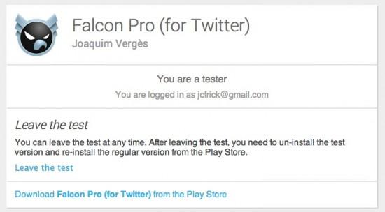 Falcon Pro Beta Tester