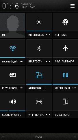 HTC Sense Quick Settings