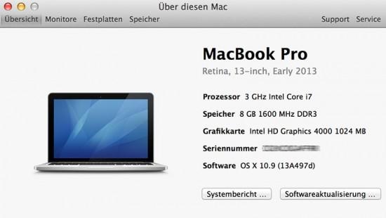 OS X Maverick Beta 2