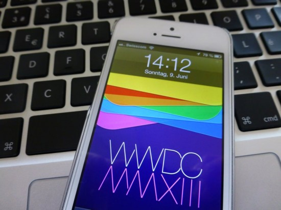 WWDC Logo on iPhone 5