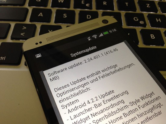 Android 4.2.2 Update HTC One