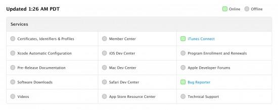 Apple Developer Portal Status