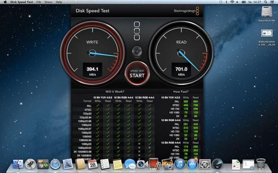 MacBook Air 2013 SSD Speedtest