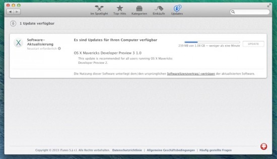 OS X Mavericks Beta 3