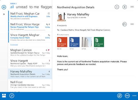 Microsoft OWA App Inbox