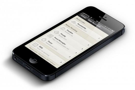 Reeder V 3.2 on iPhone 5