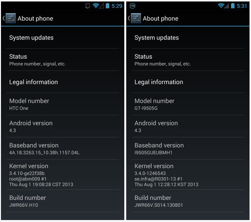 Android 4.3 for Google Edition