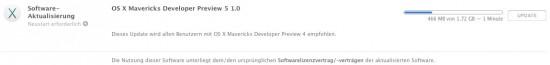 OS X Mavericks Beta 5 Download
