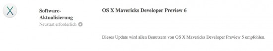 OS X Mavericks Beta 6 Download