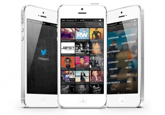 Twitter Music App on iPhone