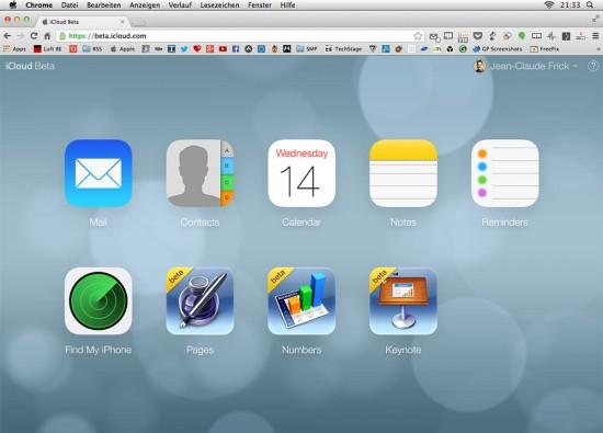 iCloud Beta iOS 7 Style