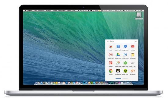 Google Apps Drawer Mac OS X