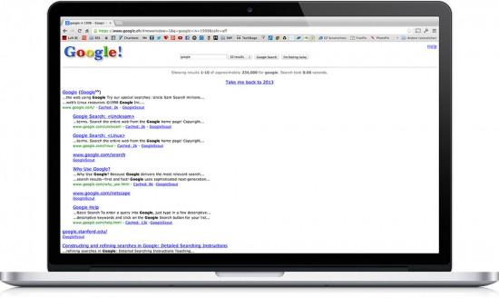 Google in 1998 easter egg
