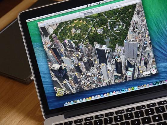 OS X 10.9 Mavericks mit Karten App