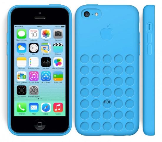 iPhone 5C Blau mit Hülle