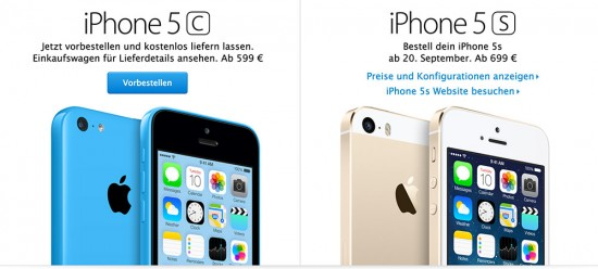 iPhone 5C vorbestellen