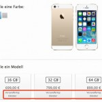 iPhone 5S in Gold bereits ausverkauft