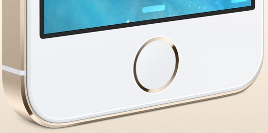 iPhone 5S Homebutton Gold